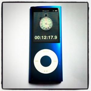 iPod mit Stoppuhrfunktion